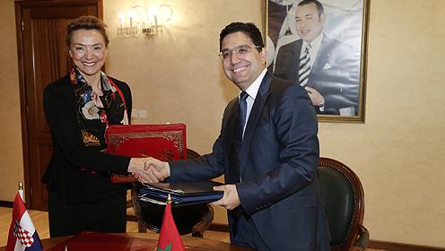 Photo de Trois accords de coopération entre le Maroc et la Croatie