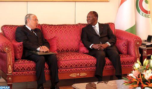 Photo of Le PDG d'Attijariwafa bank reçu par le président ivoirien