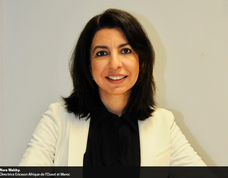 Photo de Nora Wahby, la directrice Afrique de l'Ouest et Maroc d'Ericsson, détaille la stratégie de la firme suédoise